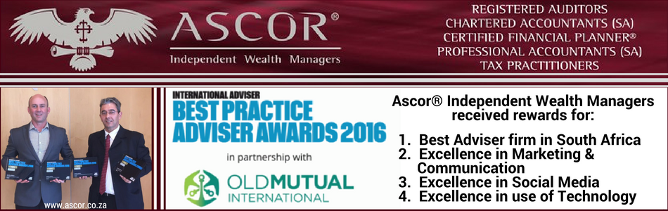 Ascor® Independent Wealth Managers Best Adviser firm SA 2016