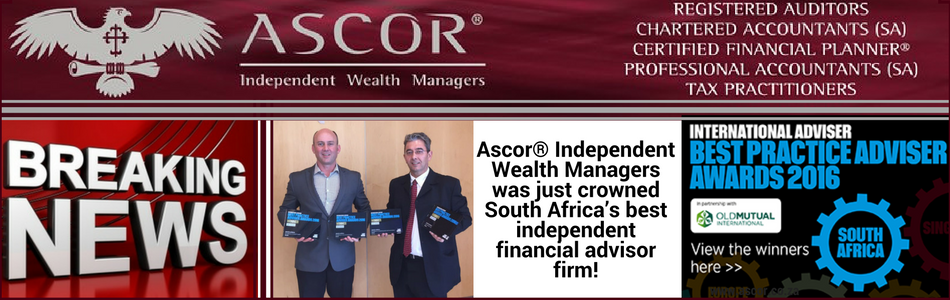 Ascor® Independent Wealth Managers best independent financial advisor firm 2016!