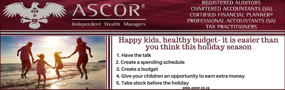 Ascor® Independent Wealth Managers Happy kids, healthy budget – it is easier than you think this holiday season