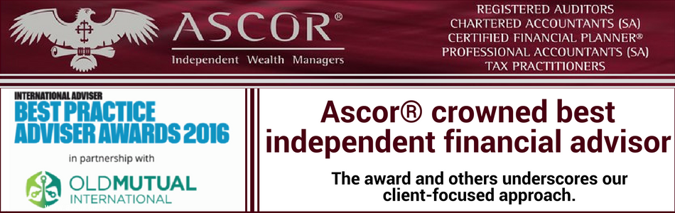 Ascor® crowned best Independent financial advisor 2016