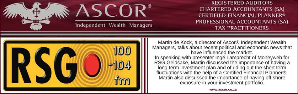 Martin de Kock CFP® on RSG 4 Nove 2016 Keep calm and have a retirement investment plan