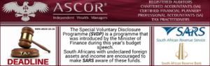 Tax deadline SVPD programme