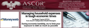 Managing household expenses in touch economic times
