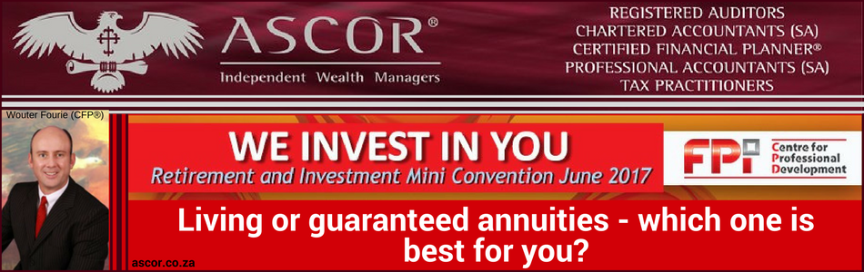 Retirement convention living or guaranteed annuities 7june2017