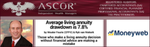 Wouter Fourie Moneyweb Average living annuity drawdown is 7.8% 04072017
