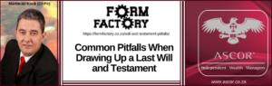 Will and Testament pitfalls forumfacktory 15june2017