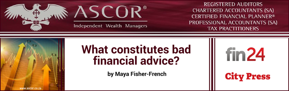 What constitutes bad financial advice?