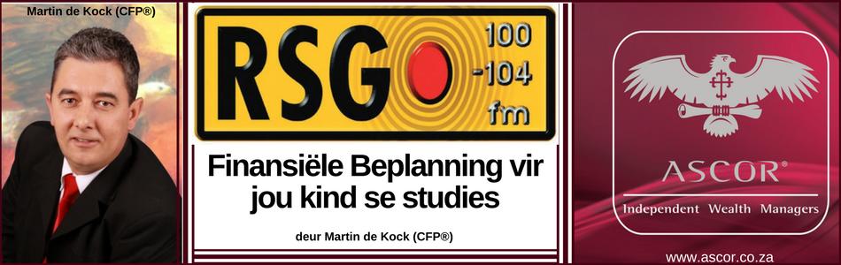 Martin de Kock Financial Planning for child studies 1 Dec2017