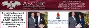 Tuks Investment management award 2018