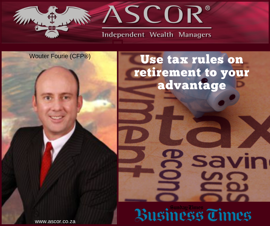 Wouter Fourie Use tax rules on retirement to your advantage 21072019