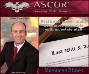 Wouter Death and taxes make both more palatable with an estate plan AUg2019