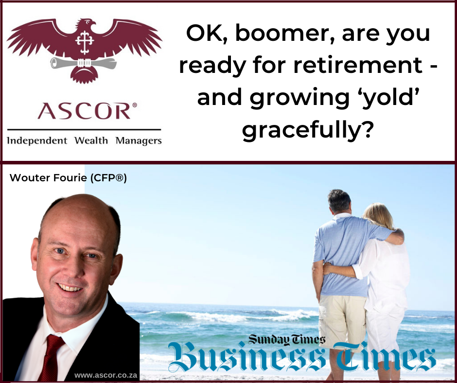 Wouter Fourie Sunday times boomer are you ready to retire 26Jan2020