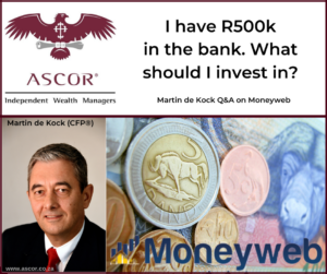 Martin de Kock Q&A on moneyweb 10Feb2020