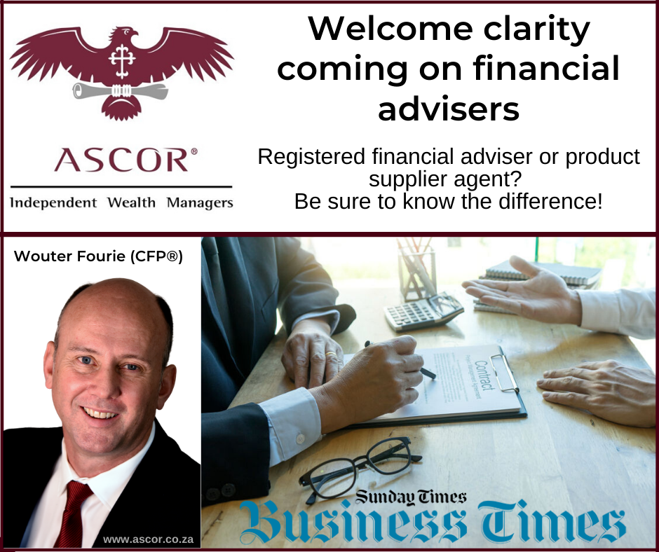 Welcome Clarity Coming On Financial Advisers