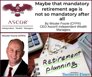 Wouter Fourie Maybe that mandatory retirement age is not so mandatory after all Sunday times 06092020