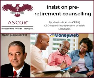 Martin de Kock Insist on pre-retirement counselling 2 July2021