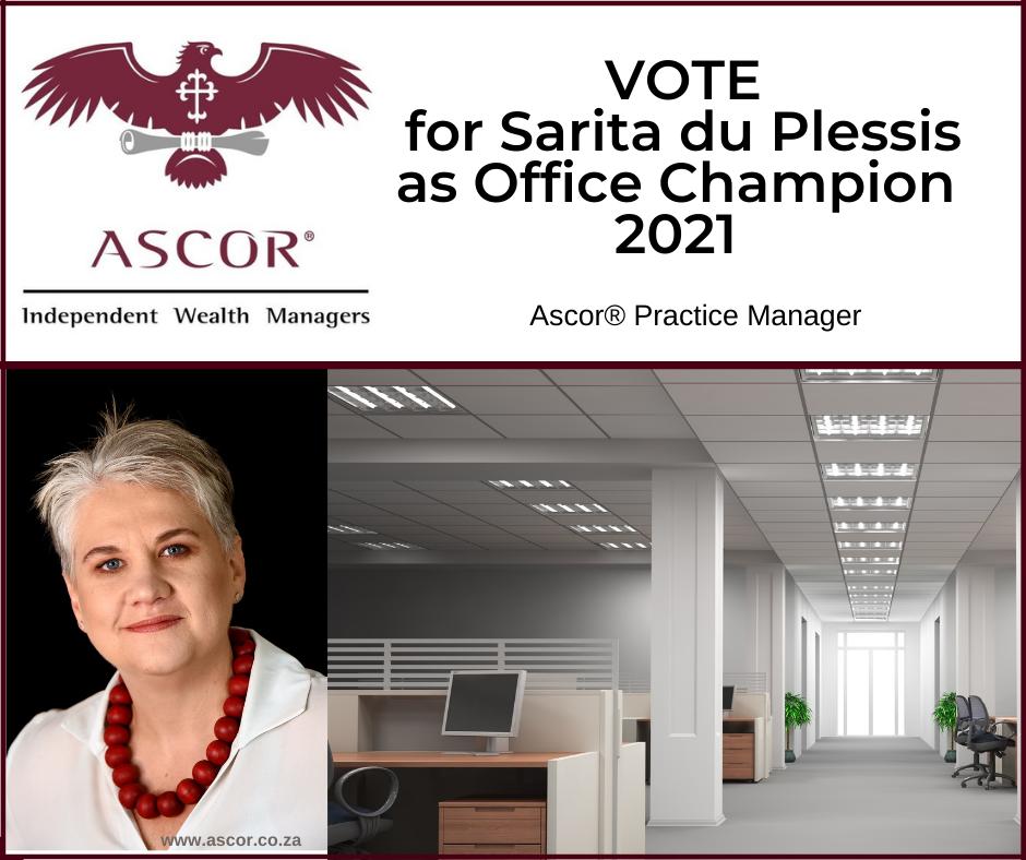 Sarita du Plessis for Office champion2021