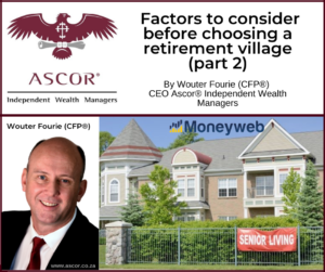 Wouter Fourie Factors to consider before choosing a retirement village part 2 16Sept2021