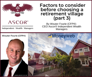 Wouter Fourie Factors to consider before choosing a retirement village part 3 20Sept2021