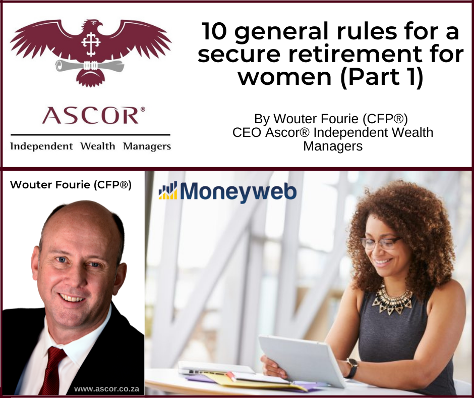 Wouter Fourie 10 general rules for a secure retirement for women Part 1 14 Oktober 2021