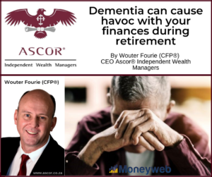 Wouter Fourie Dementia can cause havoc with your finances during retirement 1 Oktober 2021